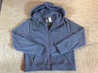 Women's Aeropostale Live Love Dream Hooded Cozy Fleece Jacket Large Gray - New