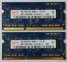 Apple Mac Memory 2GB RAM (2X1GB) 1RX8 PC3-8500S HYNIX  HMT112S6TFR8C-G7