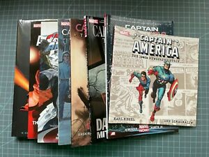 MIXED LOT OF 8 MARVEL CAPTAIN AMERICA TPB'S/HARDCOVERS SOME NEW