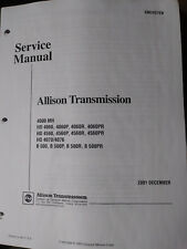 Allison HD On-Highway Transmission Service Manual SM2457EN 4000/500 series 2001