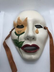 """Hand Painted And Signed Mask From Nola,  By """" Rosary"""""""