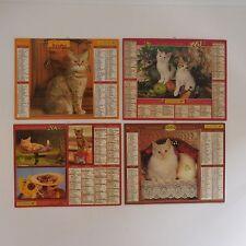 4 calendriers Almanach du facteur LA POSTE France 2000 2001