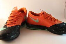 Nike KD Kevin Durant VI 6 Black Green Glow Urban Orange Basketball Shoes NEW