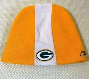 Green Bay Packers Sideline Reebok Beanie Hat Football NFL Knit Yellow Logo Cap