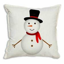 Snowman Cotton Throw Pillow - 18'