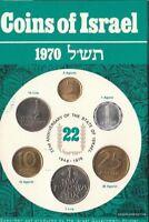 Israel 1970 Stgl./unzirkuliert Kursmünzen 1970 22 Jahre Israel 1 Agora bis 1 Lir