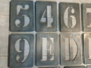 Restoration Hardware ZINC Metal Stencil Wall Hangings Letters & Numbers YOU PICK