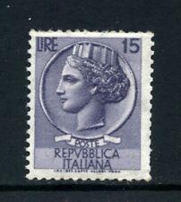 1955 - LOTTO/6268UA - REPUBBLICA - 15 LIRE SIRACUSANA CON NUMERO