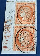 France N° 38 40 C Orange Timbre Du Haut Sans Le 4 De 40 À Droite Superbe