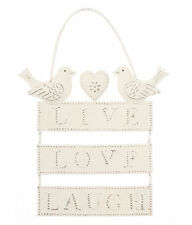 Live, Laugh, Love Shabby Chic Decorative Plaques & Signs