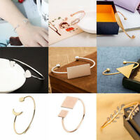 Fashion Women Lots Style Bracelet Gold Silver Punk Cuff Bangle Charm Jewelry NEW