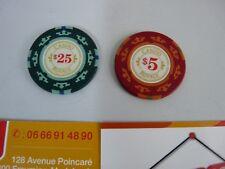 Lot de jetons poker casino royale james Bond 007 - 5$ et 25$