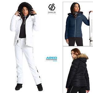 Dare 2B Womens Glamorize Luxe Padded Ski Jacket Faux Fur Hooded Waterproof Coat
