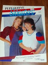 VINTAGE 1986 - PUFF-SLEEVE SWEATERS - KNITTING PATTERN BOOKLET - DEMI DESIGNS