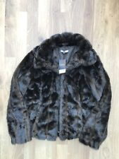 Next Brown Faux Fur Lined Coat UK 16 NEW WITH TAG RRP £68 Brown