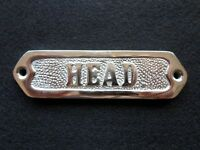 "Chrome Plated ""Head"" Door Sign ~ Nautical Maritime ~ Boat Ship Wall Decor"