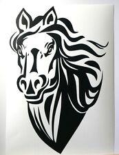 adesivo ritagliato Cavallo horse fattoria sticker decal auto moto camper muro