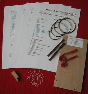 Harpsichord Repair Kit-Jack Plectra, Trimming Tools, Strings, Instruction Manual