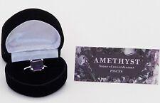 Anello di ametista,argento sterling 925 MISURA O Baguette AMETISTA FEBRAIO