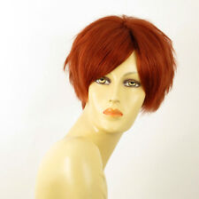 perruque femme 100% cheveux naturel courte cuivré intense ref AMANDINE 130