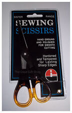 "Sewing Scissors 5.5"" Stainless Steel Two-Tone Acrylic Handles Sister Range"