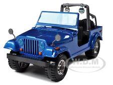 JEEP WRANGLER METALLIC BLUE 1:24 DIECAST MODEL CAR BY BBURAGO 22033