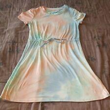 WALLFLOWER - TIE DYE DRESS TIE WAIST PASTEL SOFT CASUAL T SHIRT DRESS -  Medium