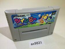 ax9831 TwinBee Rainbow Bell Adventure Pop'n SNES Super Famicom Japan