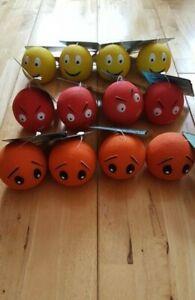 Good Boy - Latex Squeaky Face Balls x12 - Puppy / Dog Toy - Job Lot