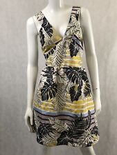 H & M Women's Dress A Line Sleeveless Open Back Multi-Colored Size 12 NWT
