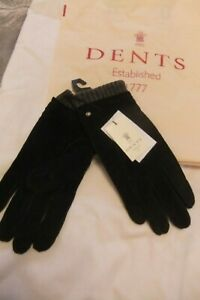 DENTS MENS  LEATHER SUEDE  ? WOOLGLOVES  English sz L  NEW Christmas present