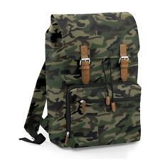 Camouflage Camo Vintage Laptop Bag Backpack Rucksack Case School Work Briefcase
