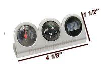 Grey/Black Combo Digital Clock Compass &Thermometer Dash Mount Car/Truck/RV/Boat