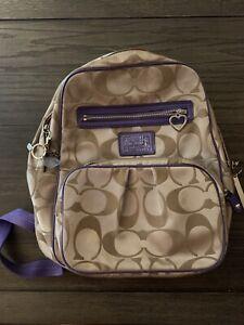 coach poppy daisy signature backpack