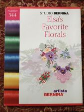 Bernina Embroidery Card #544 Elsa's Favorite Florals for Artista and Deco Series