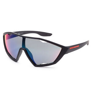 Prada Men's PS10US DG09Q130 30mm Mirrored Blue Red Gradient Lens Sunglasses