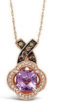Le Vian chocolateros ® Colgante Amatista, Vainilla/chocolate diamantes ® 14K Oro Rosa