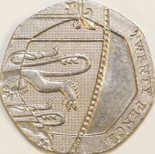 Genuine Undated 20p Coin Mule Error Circulated Condition