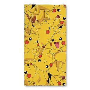 Pokemon Boom Pikachu Beach Bath Towel Cotton Kids Girls Gift Holiday