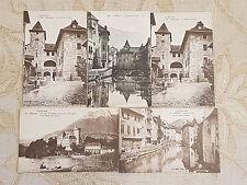 Lot Of 5 Antique Original Postcards - La Savoie, Annecy, France
