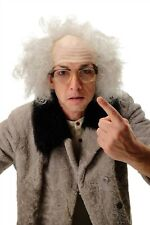 Wig half Bald Men's Carnival Alter Grandpa Crazy Professor Einstein Grey