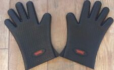 Black Heat Resistant Silicone Grill Gloves 6.3oz by Geaux Creole cooking