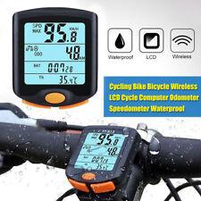 LCD impermeable odómetro velocímetro computadora para bicicleta inalámbrica
