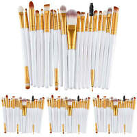 20tlg Weiß Professionelle Make up Pinsel Brush Kosmetik Pinsel Schminkpinsel Set