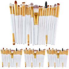 20tlg Weiß Professionelle Make up Pinsel Brush Kosmetik Pinsel Schminkpinsel Set