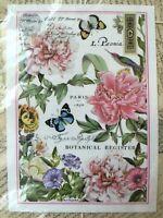Michel Design Works Botanical Garden Kitchen Tea Towel Floral Peony Butterfly
