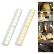 10LED Motion Sensor Wireless Battery Closet Lamp Cabinet Night Light Portable