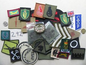 UK MOD. Mixed Trade, Rank, Special Forces Unit Patches. Job Lot x 30  [292]