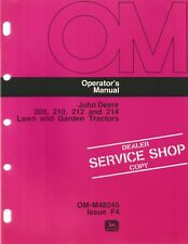 John Deere 200, 210, 212 & 214 Lawn & Garden Tractor Operator's Manual