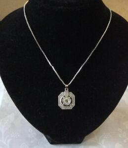 Art Deco Design Simulated Diamond Necklace